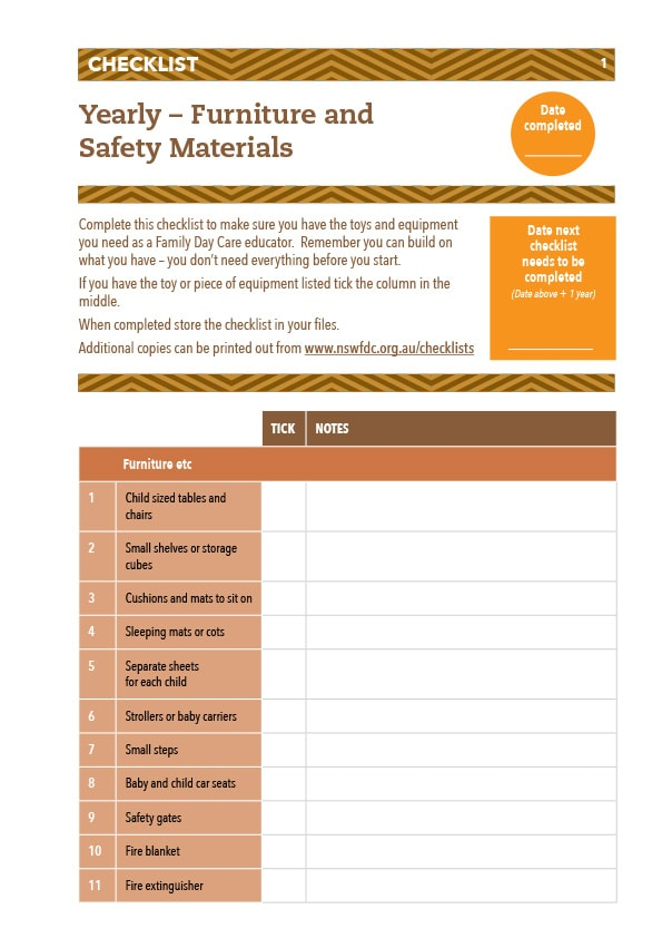 Daily Safety Checklist