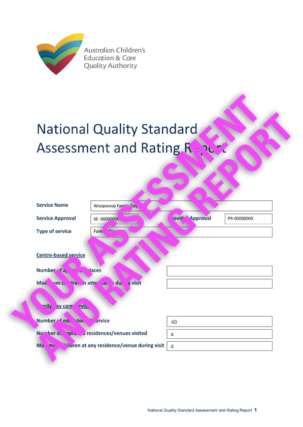 Your last assessment  and rating report
